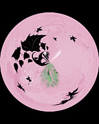 Morphed Art Globe 10 Print by Rhonda Barrett