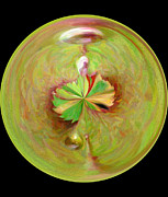 Morphed Metal Prints - Morphed Art Globe 21 Metal Print by Rhonda Barrett