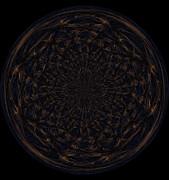 Morphed Art Globe 31 Print by Rhonda Barrett
