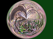 Morphed Metal Prints - Morphed Art Globe 36 Metal Print by Rhonda Barrett