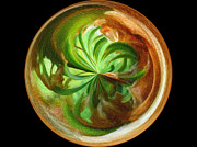 Morphed Metal Prints - Morphed Art Globes 16 Metal Print by Rhonda Barrett