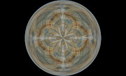 Morphed Art Globes 25 Print by Rhonda Barrett
