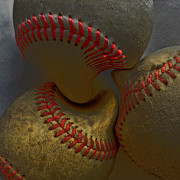 Morphing Metal Prints - Morphing Baseballs Metal Print by Bill Owen