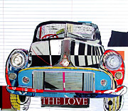 Mixed Media Collages Prints - Morris Bug Print by Brian Buckley