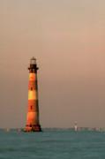 Morris Island  And Sulivan Island Lighthouses  Print by John Harmon