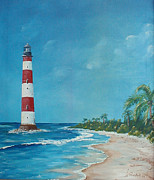 Randall Painting Originals - Morris Island Lighthouse  by Randall Brewer