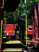 Caboose Art - Morristown and Erie Caboose by Susan Savad