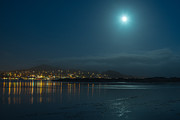 Terry Garvin Prints - Morro Bay at Night Print by Terry Garvin