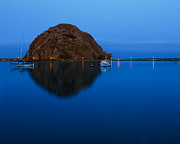 Terry Garvin Prints - Morro Bay Calm Morning Print by Terry Garvin