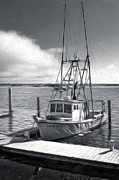 Morro Bay Fishing Boat In Duo-tone Print by Gregory Dyer