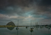 Clouds Glass Art Prints - Morro Bay Print by Mitch Shindelbower