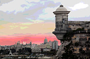 Cuba Mixed Media - Morro Castle Havana by Charles Shoup