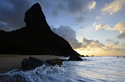 Atlantic Beaches Prints - Morro do Pico Brazil Evening Light Print by Bob Christopher