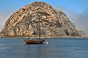Morro Bay Photos - Morro Rock Bay by Adam Jewell