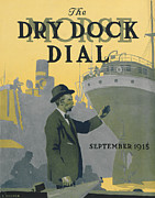 Signed Painting Prints - Morse Dry Dock Dial Print by Edward Hopper