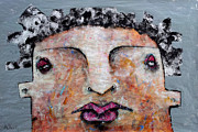 Primitive Mixed Media Prints - Mortalis no 5 Print by Mark M  Mellon