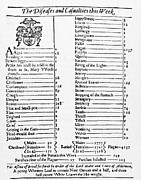 Mortality Framed Prints - Mortality Bill, 1665 Framed Print by Granger