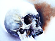Rust Paintings - Mortality Skull Rust Painting by Joel Wright