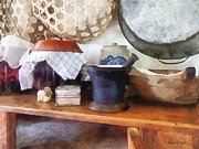 Bowl Art - Mortar and Pestle in Kitchen by Susan Savad