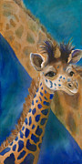 Giraffes Paintings - Mortimer by Lynn Rattray