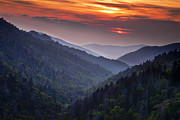 Tennessee Metal Prints - Morton Overlook Sunset Metal Print by Andrew Soundarajan
