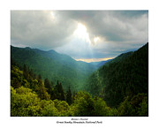 Gatlinburg Painting Framed Prints - Mortons Overlook Framed Print by Katherine Tucker