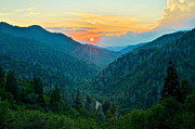 Amazing Sunset Prints - Mortons Overlook Print by Robert Harmon