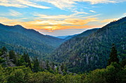 Pinnacle Overlook Prints - Mortons Overlook SMNP Print by Robert Harmon