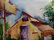 Suzanne Willis Metal Prints - Mos Barn Metal Print by Suzanne Willis