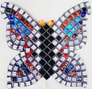 Mosaic Butterfly Print by Lisa Brandel