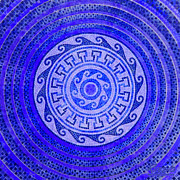 Symmetry Originals - Mosaic Circle Blue by Tony Rubino