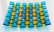 Fused Glass Art - Mosaic dish 2 by Ron Harpham