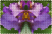 Color Purple Posters - Mosaic Floral Poster by Linda Phelps