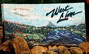 Landscape Ceramics Metal Prints - Mosaic for the City of West Linn Oregon Metal Print by Charles Lucas