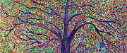 Fantasy Tree Art Paintings - MOSAIC FOREST 2 one piece by Suzeee Creates