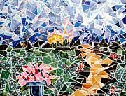 Mosaic Garden Path Print by Danise Abbott