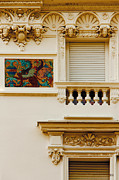 Bas-relief Prints - Mosaic In Nice France Print by Ben and Raisa Gertsberg