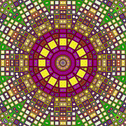 Moroccan Digital Art Framed Prints - Mosaic Kaleidoscope 3 Framed Print by Shawna  Rowe