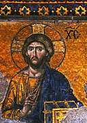 Byzantine Photo Originals - Mosaic of Jesus Christ in Hagia Sophia Istanbul by Harold Bonacquist