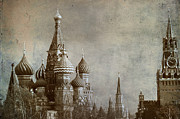 Byzantine Photo Metal Prints - Moscow Metal Print by Bernard Jaubert
