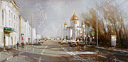 Moscow Paintings - Moscow. Cathedral of Christ the Savior by Ramil Gappasov