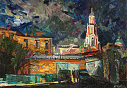 Moscow Paintings - Moscow impasses by Juliya Zhukova