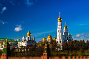 Archangel Photo Prints - Moscow Kremlin Cathedrals Print by Alexander Senin