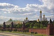 Annunciation Framed Prints - Moscow Kremlin Framed Print by Elena Nosyreva