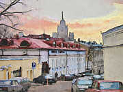 Stimulation Digital Art Framed Prints - Moscow Old Streets 1 Framed Print by Yury Malkov