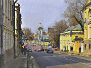 Moscow Digital Art - Moscow Old Streets 10 by Yury Malkov