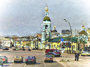 Moscow Digital Art - Moscow Old Streets 11 by Yury Malkov