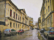 Moscow Digital Art - Moscow Old Streets 25 by Yury Malkov