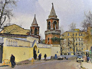 Stimulation Digital Art Framed Prints - Moscow Old Streets 5 Framed Print by Yury Malkov