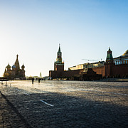 Chimes Posters - Moscow Red Square From North-West To South-East - Square Poster by Alexander Senin